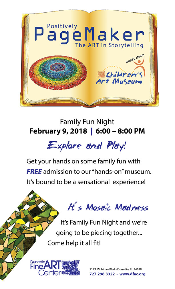 FREE Family Fun Night is Mosaic Madness! | Dunedin Fine Art Center