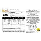 2014 Summer Lunch Form