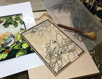 Printmaking is taught in the adult classes.