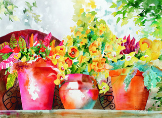DFAC adult classes teach the art of watercolor painting.