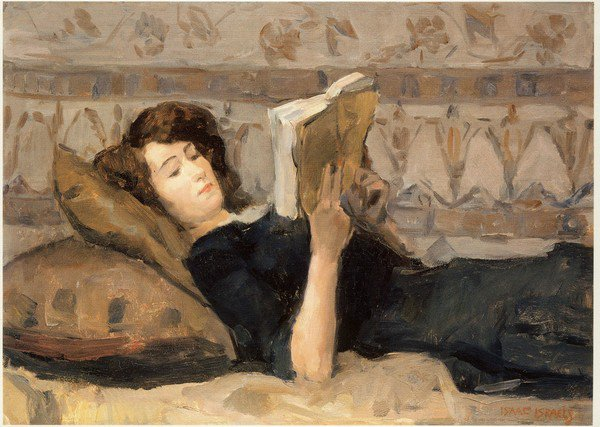Issaac Israels, Girl Reading, 1920