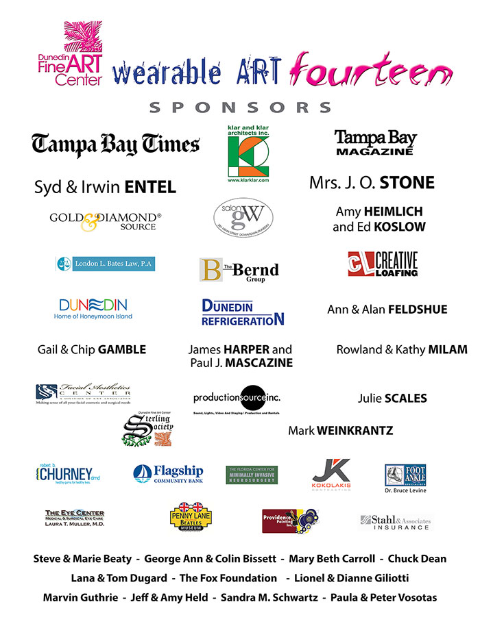 Thank you to our sponsors who have made Wearable Art fourteen possible.