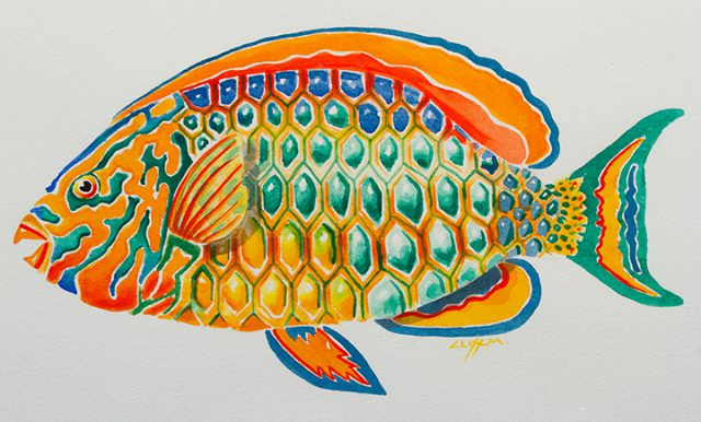 This Watercolor Fish by Clifton Moorhead are among the 2-D creations on consignment at the Dunedin Fine Art Center Gallery Shop.