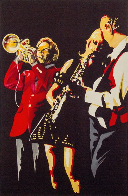 This Jazz Band Oil Painting by Scott Suits is among the 2-D creations on consignment at the Gallery Shop inside the Dunedin Fine Art Center.