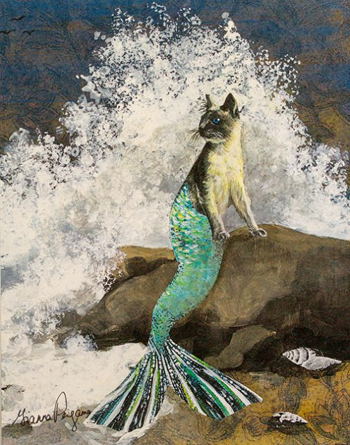 This Mixed Media Mercat 2-D creation by Gianna Pergamo is onconsignment at the Dunedin Fine Art Gallery Shop.