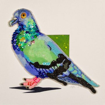 Beaded Artwork by Eleanor Pigman is part of the 2-D collection in the Dunedin Fine Art Center Gallery Shop.