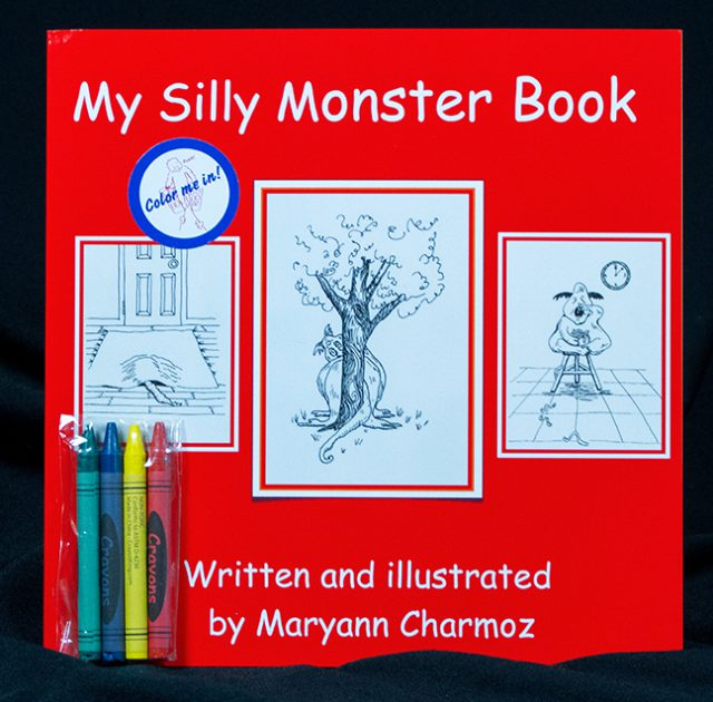 The My Silly Monster Book by Maryann Charmoz is one of many books by artists on consignment at the Dunedin Fine Art Center Gallery Gift Shop.