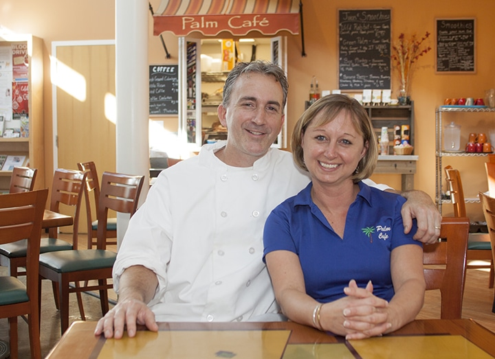 Brian and Heather Healey manage the DFAC Palm Cafe implementing artful perfect plating for each dining experience.