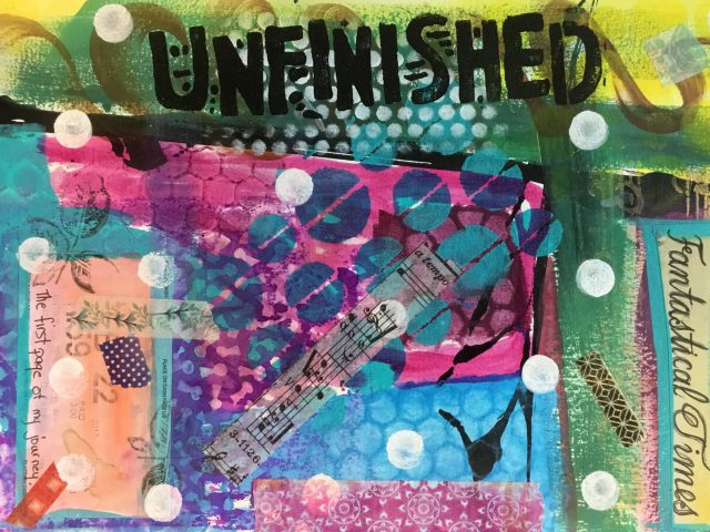 Mixed media is among the adult classes taught at DFAC.