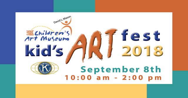 This is the logo for the kids Art fest 2018.