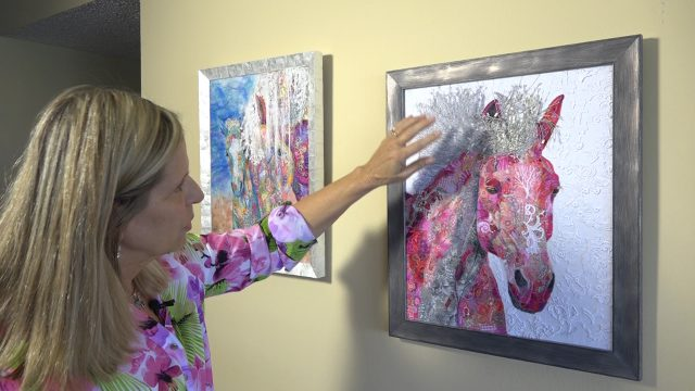 Fiber artist Lorraine Turner discovers artwork's intangible meaning.