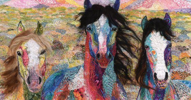 Calico horses have helped fiber artist Lorraine Turner discover artwork's intangible meaning.