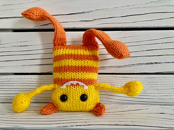 """photo of knit """"monster."""""""