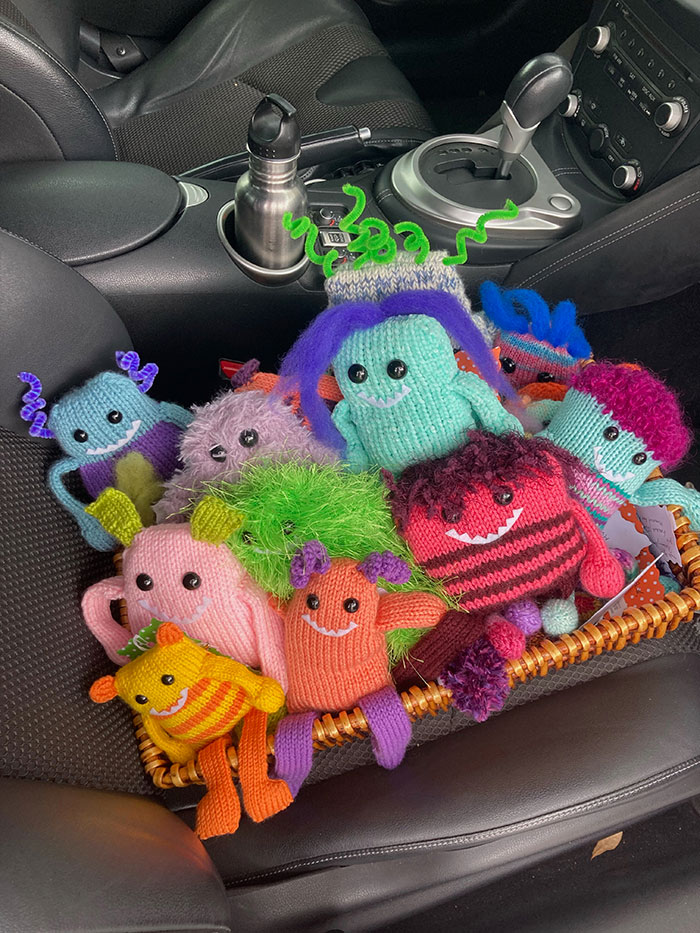 """photo of knit """"monsters."""""""